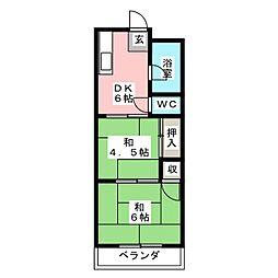 木下ビル[2階]の間取り