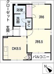 KUR HAUS U[1階]の間取り