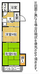 シャトレ黒崎[2階]の間取り