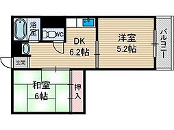 イーストサイド茨木[3階]の間取り