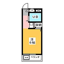 ジョイフル御器所[4階]の間取り