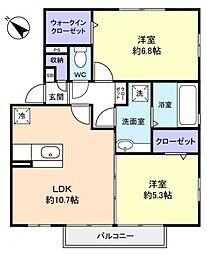 千葉県船橋市松が丘5丁目の賃貸アパートの間取り