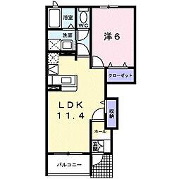 サンライト・カワサキB[1階]の間取り