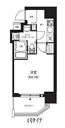 Osaka Metro中央線 堺筋本町駅 徒歩4分の賃貸マンション 13階1Kの間取り