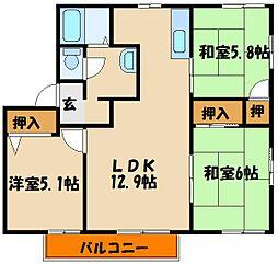 サニーパーク[2階]の間取り