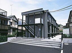 東京都多摩市落川の賃貸アパートの外観