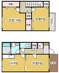 [テラスハウス] 兵庫県小野市西本町 の賃貸【/】の間取り