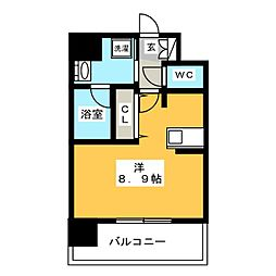 エンクレスト博多Rey[12階]の間取り