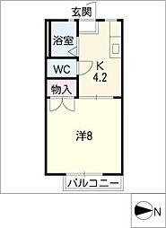 カーサ伊倉 B棟[2階]の間取り