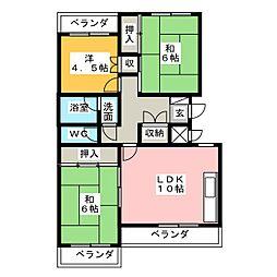 ビブレ高崎[2階]の間取り