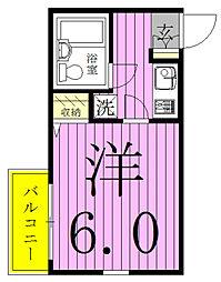 ジュネパレス新松戸第44[1階]の間取り