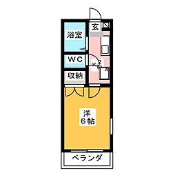 プレアール下中野[3階]の間取り