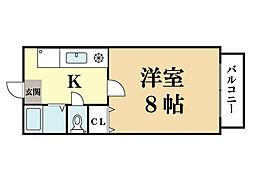 メゾン・ピサンリ[1階]の間取り