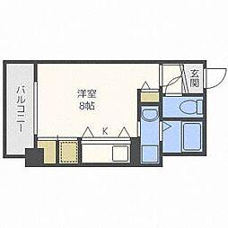 ブランノワールN13exe[2階]の間取り