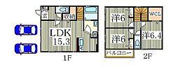 [一戸建] 千葉県我孫子市都部 の賃貸【/】の間取り