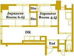 横浜鶴見共同ビル[806号室]の間取り