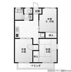 セジュールコンタル3[2階]の間取り