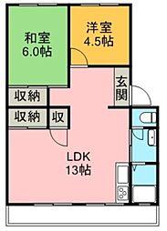 本谷マンション[2階]の間取り