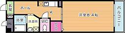 カンフィデンス三ヶ森[4階]の間取り