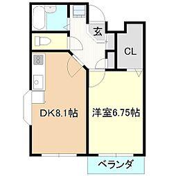 ソレイユ高野台[1階]の間取り