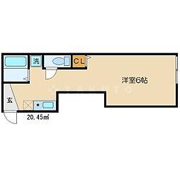 エンゼルハウス[1階]の間取り