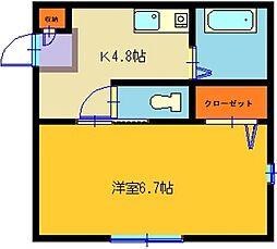 積水ハウスシャーメゾン ヘブンゲイト松戸203号室[203号室]の間取り