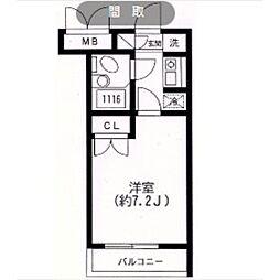 スカイヒル生田[405号室]の間取り