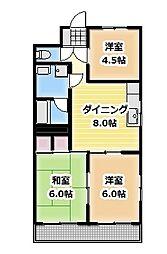 マンション松[201号室]の間取り