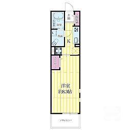 鶴野リバーサイドテラス[3階]の間取り