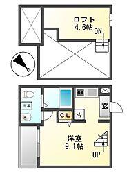RoRoナルミ[2階]の間取り