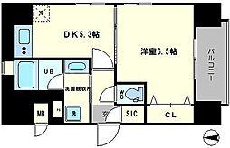 エステムコート大阪新町[8階]の間取り
