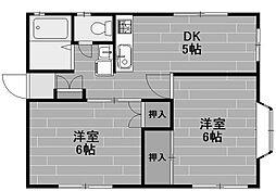 貝取ハイツ[1階]の間取り