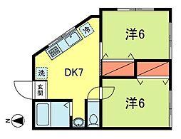 松ノ木第6ハイデンス[2階]の間取り