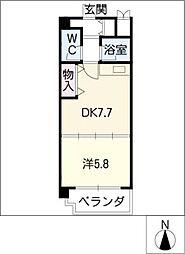 ロイヤルコート光[3階]の間取り