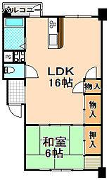 兵庫県伊丹市高台4丁目の賃貸マンションの間取り