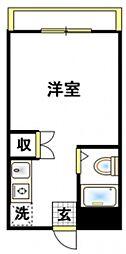 コスモハウス三番館[1階]の間取り