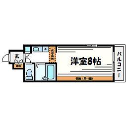 兵庫県西宮市産所町の賃貸マンションの間取り