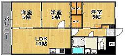 チサンマンション第5博多[5階]の間取り