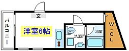 JR常磐線 亀有駅 徒歩9分の賃貸マンション 1階1Kの間取り