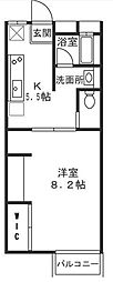 神奈川県川崎市高津区二子4丁目の賃貸アパートの間取り