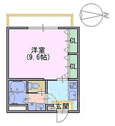 シャルレ三番館[1階]の間取り