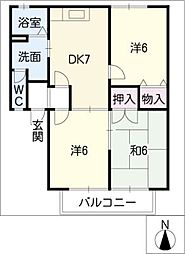 エクセルI[1階]の間取り