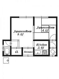 村井平屋 南棟[1階]の間取り