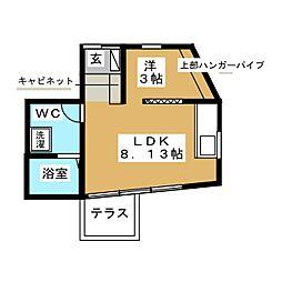 JR山手線 恵比寿駅 徒歩12分の賃貸アパート 1階1LDKの間取り