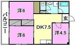 メゾン和泉(和泉北)[207 号室号室]の間取り