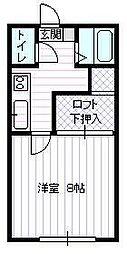 JR山形新幹線 山形駅 バス21分 坂巻下車 徒歩3分の賃貸アパート 1階1Kの間取り