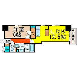 エステムプラザ名古屋D.C.2027(エステムプラザ名古屋D[10階]の間取り