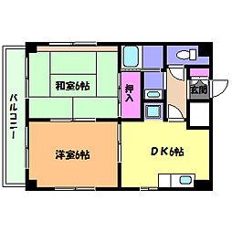 兵庫県神戸市灘区高徳町6丁目の賃貸マンションの間取り
