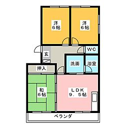夢コーポ寺島[1階]の間取り