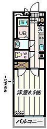 埼玉県さいたま市緑区東大門3丁目の賃貸マンションの間取り